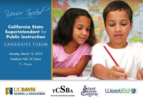 Image of California Superintendent for Public Instruction Candidates Forum at UC Davis