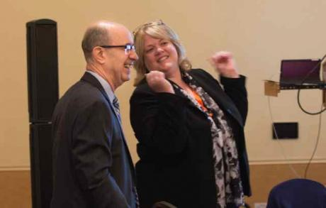 Dean Harold Levine and REEd Executive Director Susan O'Hara at the CCSS conference. Photo courtesy of UC Davis Strategic Communications.