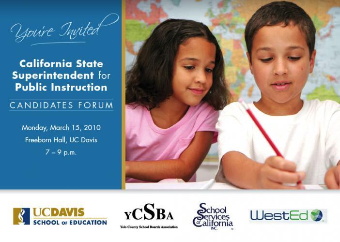 Image of California Superintendent for Public Instruction Candidates Forum at UC Davis