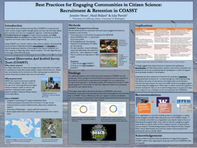 poster on best practices for engaging communities in