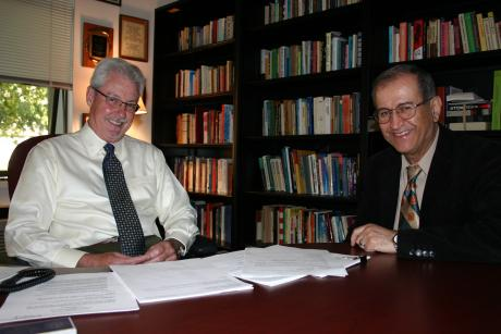 Portrait of Paul Heckman (left) and Jamal Abedi (right)