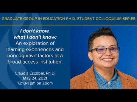 Dr. Claudia Escobar presents on Learning Experiences and Noncognitive Factors
