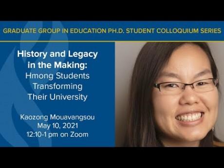 Kaozong Mouavangsou Presents on Hmong Students Transforming their University