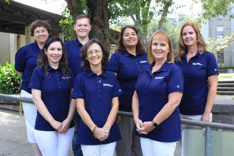 Group photo of Student Service faculty members,  Maryann Mellor (top left), Rosaisela Rodriguez  (top middle), Mary Reid (top right), Maria Rochin (bottom left), Tracy Falk (bottom middle), and Jana Royal (bottom right)