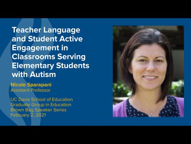 Dr. Nicole Sparapani Presents on Language, Engagement and Serving Students with Autism
