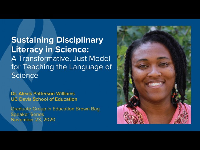 Alexis Patterson Williams presents on Sustaining Disciplinary Literacy in Science
