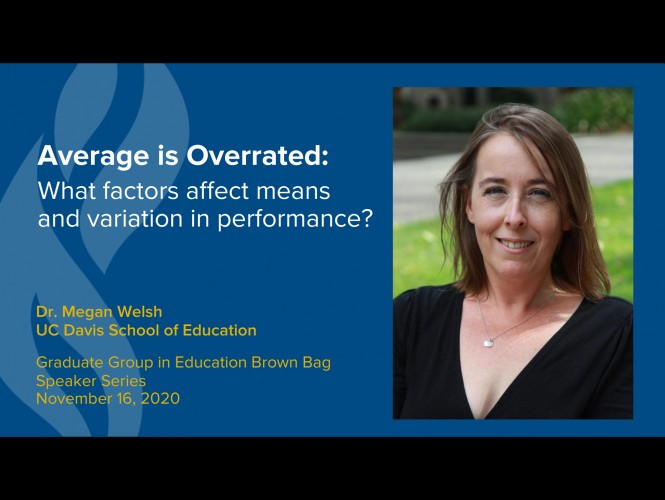 Megan Welsh presents on why Average is Overrated