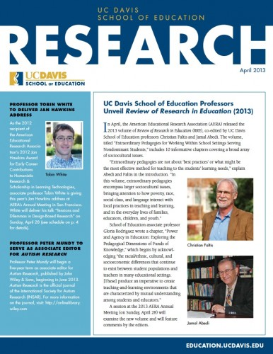 Image of School of Education Research News Brief – April 2013
